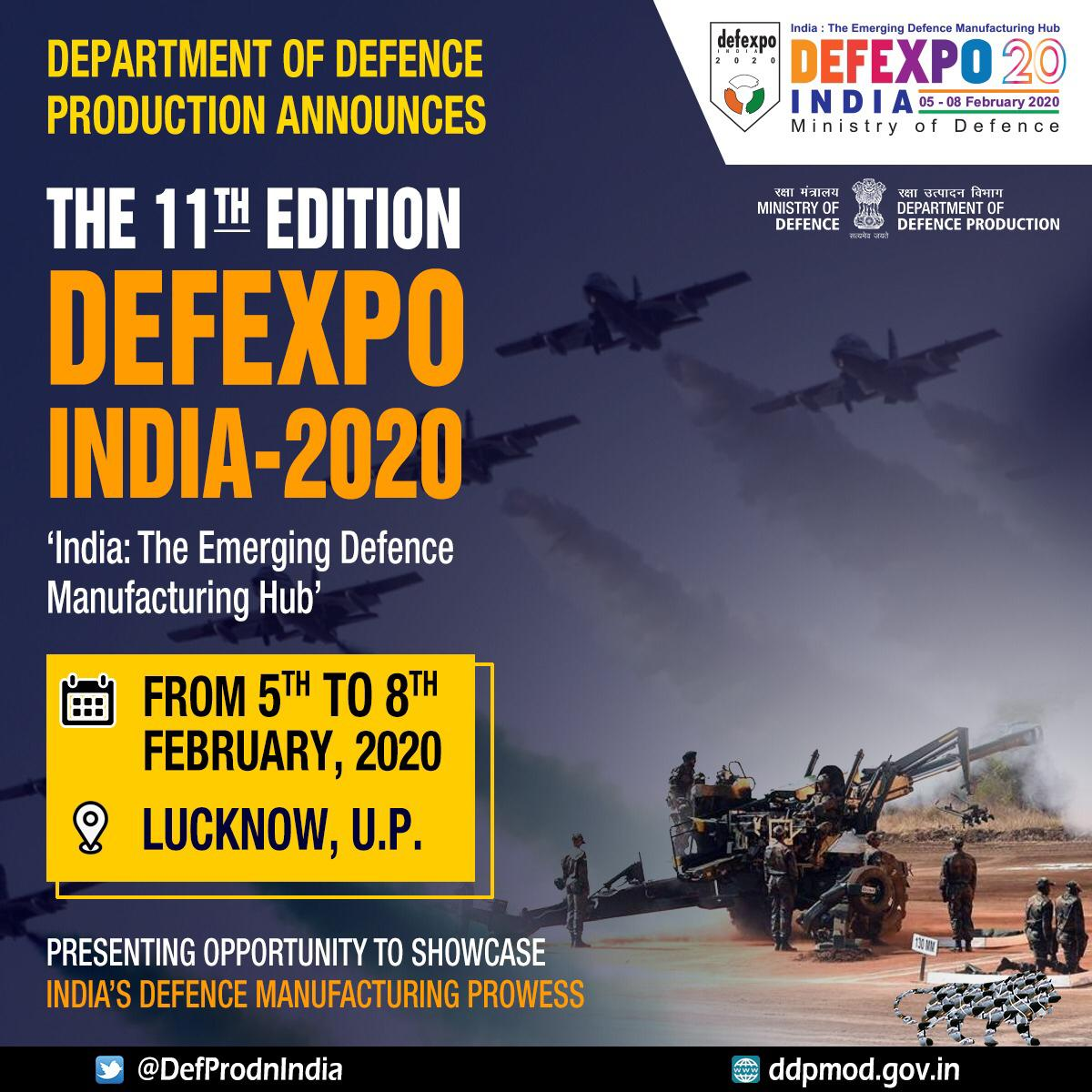 Lucknow to host Asia's biggest arms show 'DefExpo' in February 2020